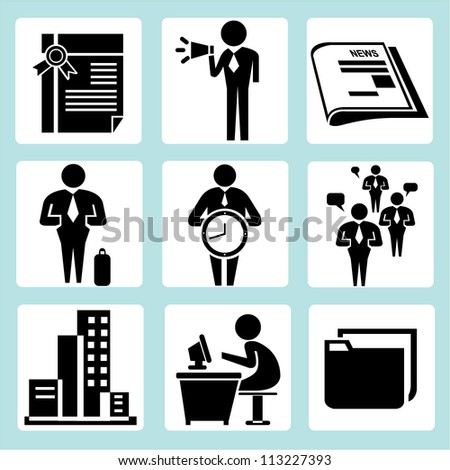 office, working, organization management set