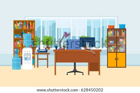 office workplace interior of