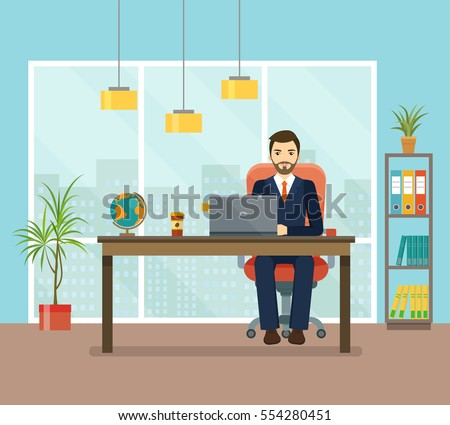 office workplace with table