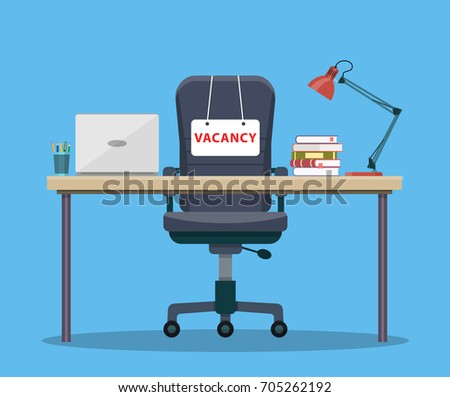office workplace with vacancy