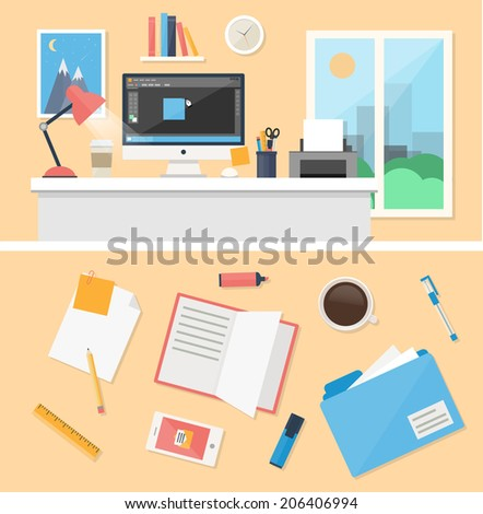 office  workspace and workplace