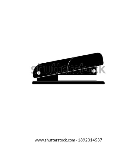 Office workspace job icon vector illustration colored filled stapler Photo stock ©