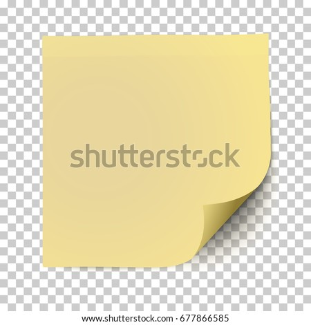 office yellow paper sticker