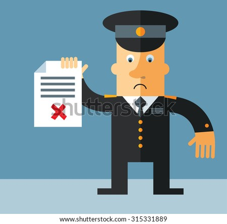 officer   holding checklist