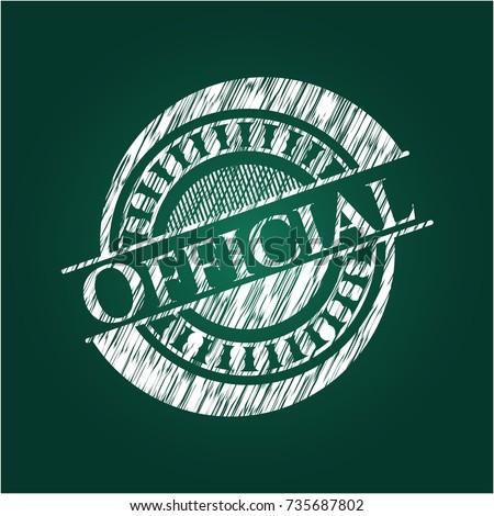 official chalk emblem written