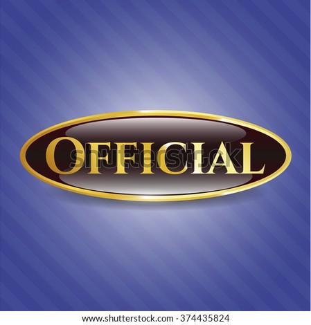 official golden badge or emblem