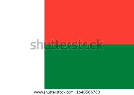 Official Madagascar flag vector, Background with flag of Madagascar