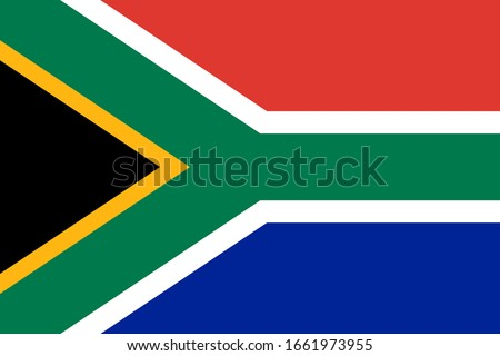 Official national South Africa flag vector Foto stock ©