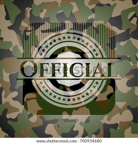 official on camo pattern