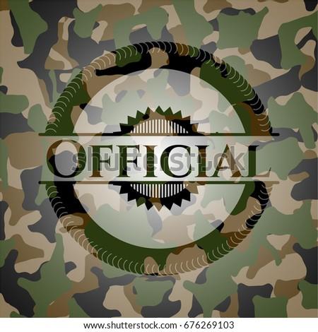 official on camouflaged texture