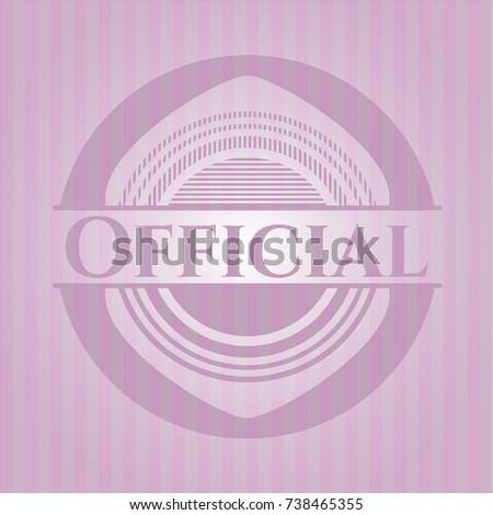 official realistic pink emblem