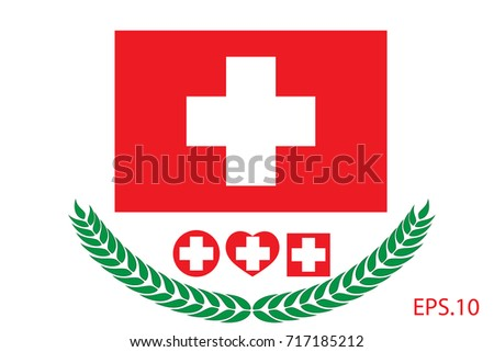 Official vector flag of Switzerland. Eps.10
