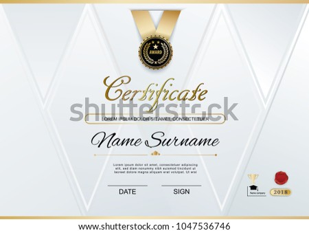 Black certificate of appreciation template download free vector official white certificate of appreciation award template with black badge wafer yelopaper Images