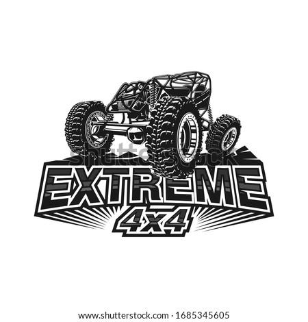 Offroad car logo tubular extreme 4x4 vehicle rock bouncher. Foto stock ©