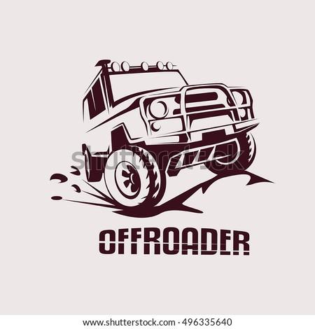 offroad suv car monochrome