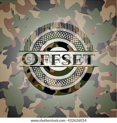 Offset camouflaged emblem