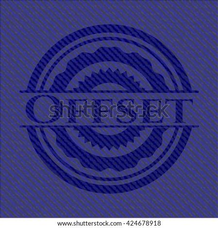 Offset emblem with denim texture