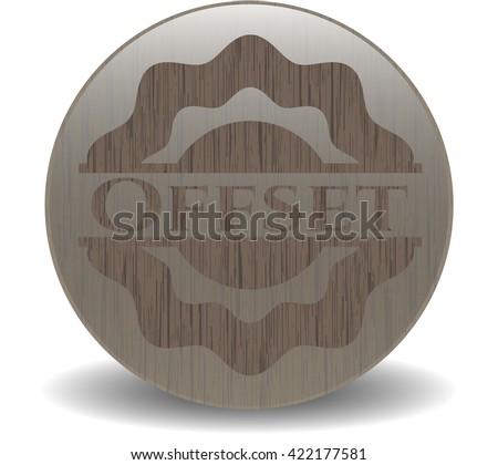 Offset realistic wood emblem