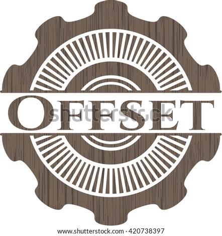 Offset wooden emblem