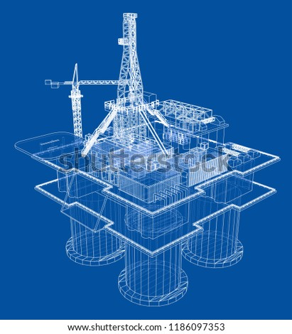 offshore oil rig drilling