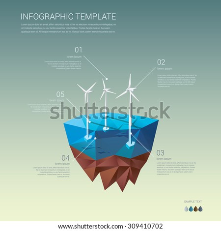 offshore wind farm infographics
