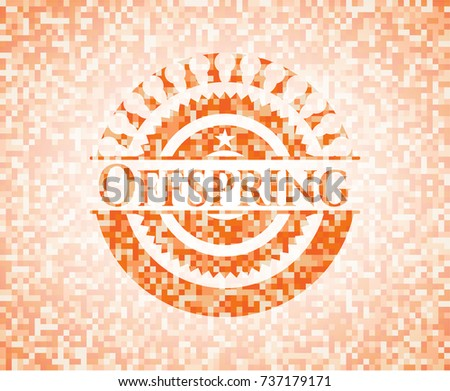 offspring abstract orange
