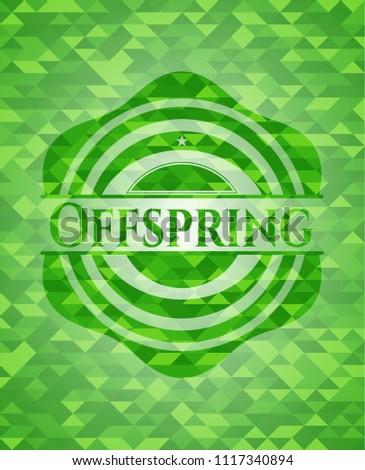offspring green mosaic emblem