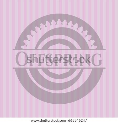 offspring pink emblem vintage