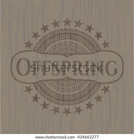 Offspring retro wood emblem