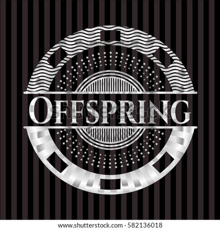 offspring silvery shiny emblem