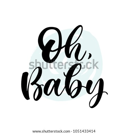 oh  baby lettering for babies
