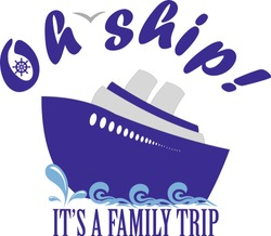 oh ship it's a family trip vector illustration cruise