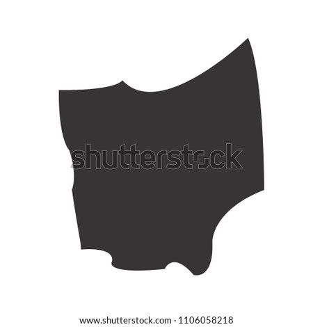 ohio map. Simple black map. Vector eps 08. State of US America Maps.