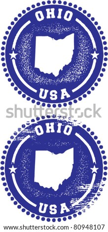 ohio usa stamps