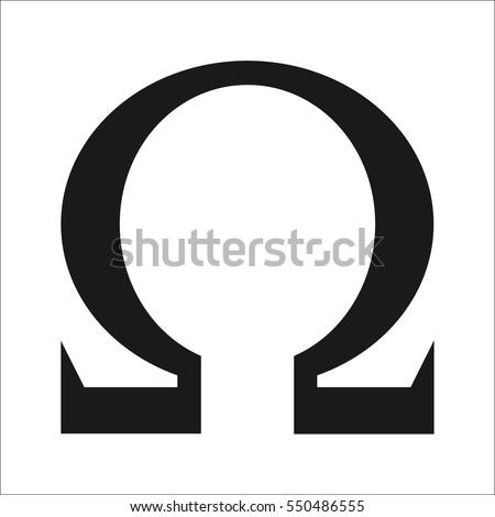 Ohm icon. Web icon. Omega symbol
