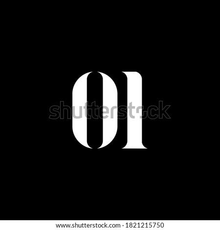 OI letter logo design. Initial letter OI uppercase monogram logo white color. OI logo, O I design. OI, O I Foto stock ©
