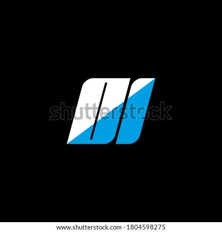 OI letter logo design on black background. OI creative initials letter logo concept. OI icon design. OI white and blue letter icon design on black background. O I Foto stock ©