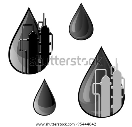 Oil and gasoline symbols for refinery industry design, such a logo