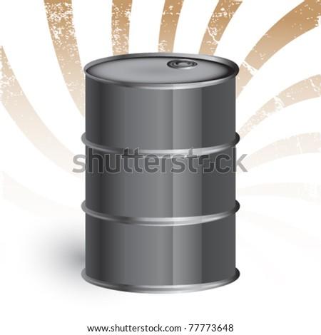 oil barrel against grunge background - eps 10