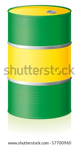Oil barrel isolated on white background