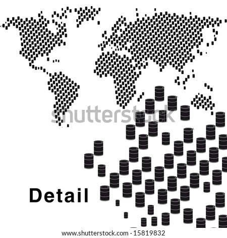 oil barrel vector. stock vector : Oil barrel