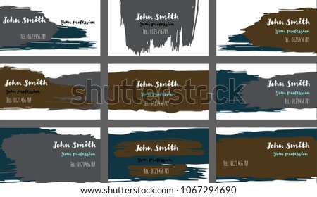 Amazing business card download free vector art stock graphics oil brushed business cards banners vector set amazing painted dark horizontal background creative colourmoves