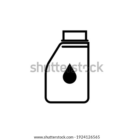oil container and jerry cans  logo vektor simple desain white background Stock foto ©