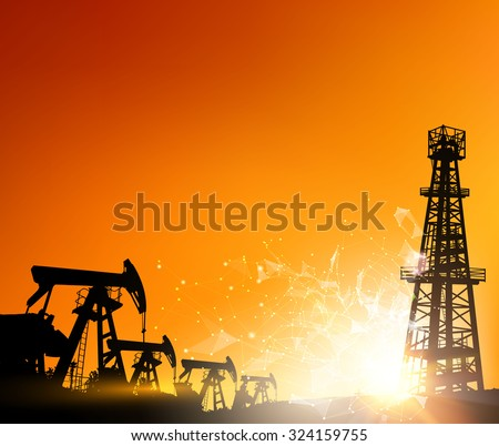 oil derrick industrial machine