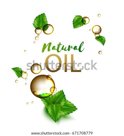 oil drops natural cosmetic