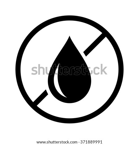 Oil free or no trans fat food product dietary label flat vector icon for apps and websites Foto stock ©