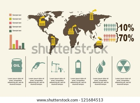 oil icons over beige background. vector illustration