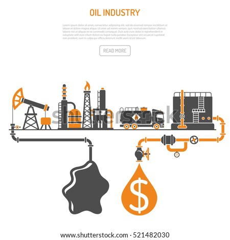 oil industry concept with two