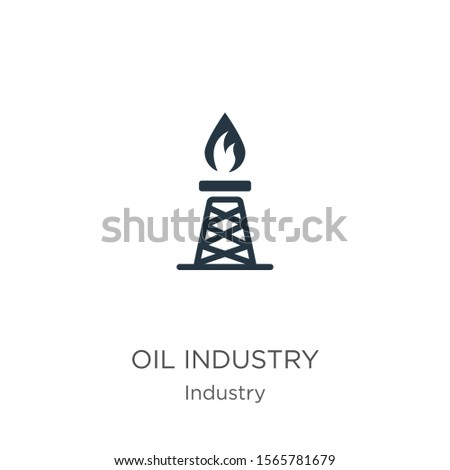Oil industry icon vector. Trendy flat oil industry icon from industry collection isolated on white background. Vector illustration can be used for web and mobile graphic design, logo, eps10