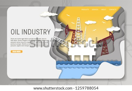 oil industry landing page